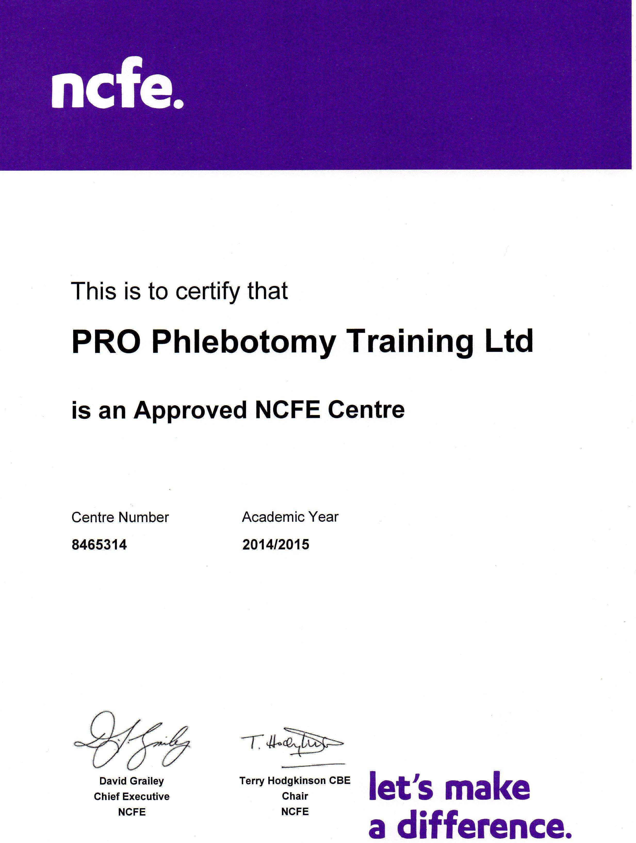 Our Accreditation Pro Phlebotomy Training